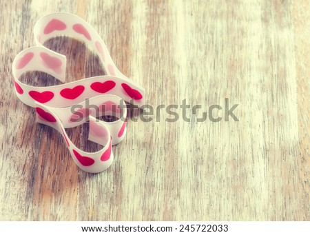 hearts on the background of boards. Background Valentines Day. Valentines Day. Valentines day ideas. Valentines day cards. International women's day - stock photo