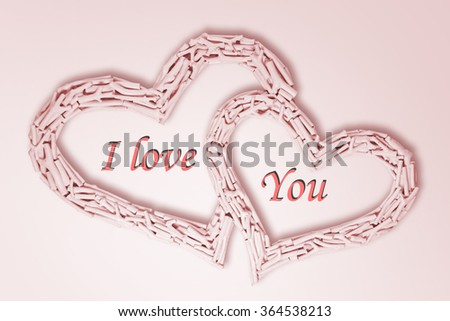 hearts on valentines day - stock photo
