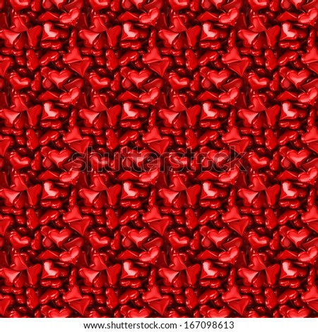 Hearts Seamless - stock photo