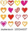 Hearts set. Raster version - stock photo