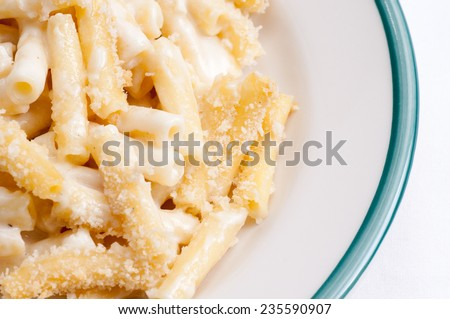 hearty macaroni and cheese with gruyere and cheddar - stock photo