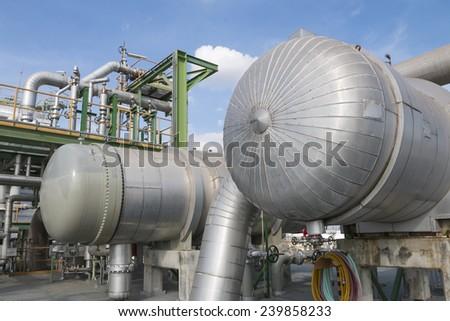 Heat exchanger tank - stock photo
