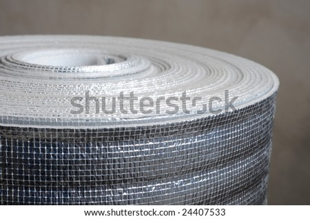 Heat insulation material in roll - stock photo