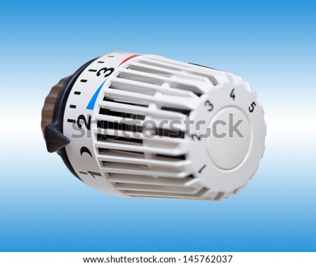 Heater thermostat. Heating costs  - stock photo
