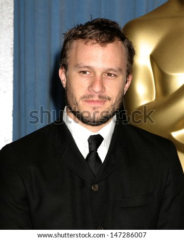 Heath Ledger  Oscar Nominee Luncheon Beverly Hilton Hotel February 13, 2006 - stock photo