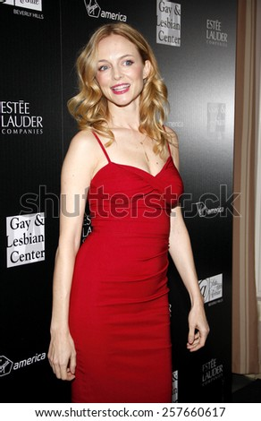 Heather Graham at the Los Angeles Gay & Lesbian Center Honors Rachel Zoe held at the Sunset Tower Hotel, California, United States on January 23, 2012.  - stock photo