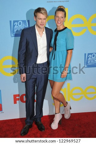 "Heather Morris & Chord Overstreet at the season four premiere of ""Glee"" at Paramount Studios, Hollywood. September 12, 2012  Los Angeles, CA Picture: Paul Smith - stock photo"