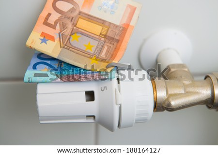 heating costs - stock photo