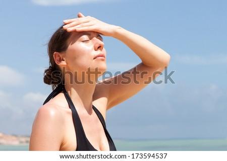 heatstroke - stock photo