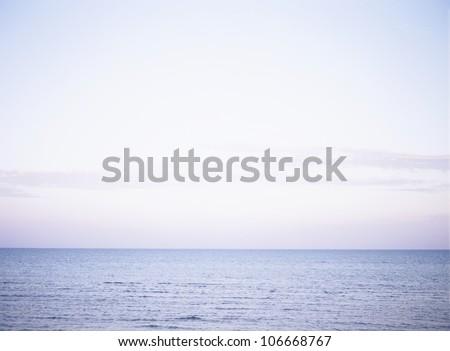 Heaven and ocean, Sweden. - stock photo