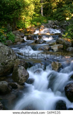 Heaven river in Retezat mountains - Romania - stock photo