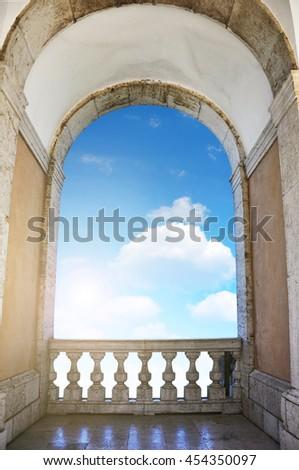 Heaven's gate concept. - stock photo