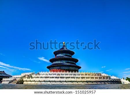 heaven temple in beijing, china - stock photo