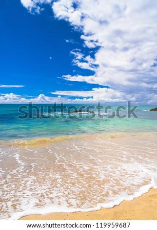 Heavenly Blue Divine Coastline - stock photo