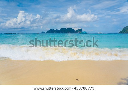 Heavenly Blue Sunshine Days  - stock photo