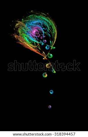 Heavenly Dew abstract illustration - stock photo