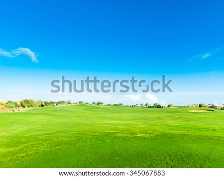 Heavenly Green Fields  - stock photo