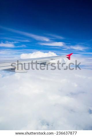 Heavenly Scene View from Window  - stock photo