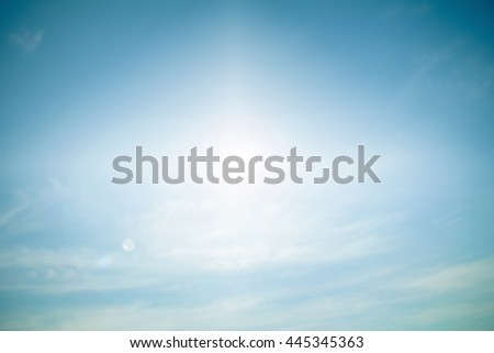 Heavenly Skies pastel background blurred nature. Open new perspectives. of seeing. Blurry nature summer. blurred backdrop. style abstract blurred sunlight. Outdoor Lighting. - stock photo
