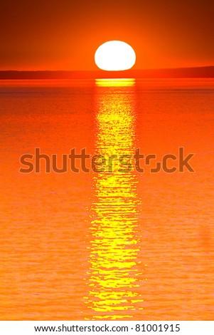 Heavens Sunset Sun - stock photo
