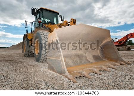 Heavy Bulldozer - stock photo