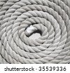 Heavy duty coiled rope - stock photo