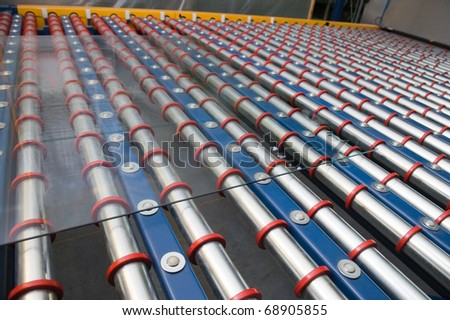 Heavy sheet glass - stock photo