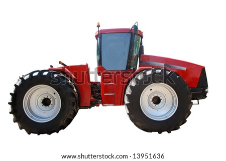 heavy tractor isolated - stock photo