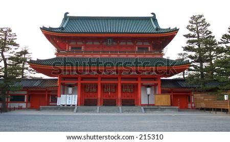 Heian Jingu Shrine in Kyoto, Japan. - stock photo