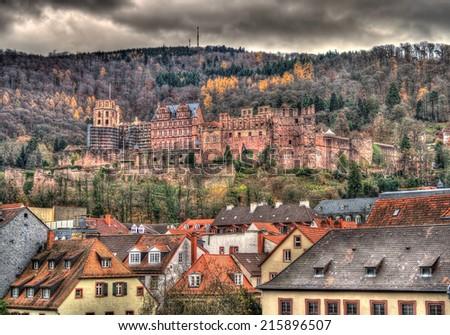 Heidelberg Castle - Germany, Baden-Wurttemberg - stock photo