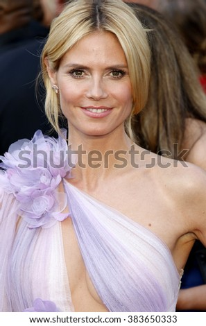 Heidi Klum at the 88th Annual Academy Awards held at the Hollywood & Highland Center in Hollywood, USA on February 28, 2016. - stock photo