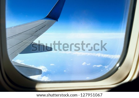 Height of about 10,000 feet - stock photo