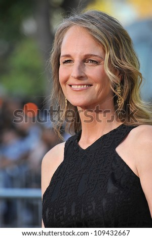 "Helen Hunt at the world premiere of ""Savages"" at Mann Village Theatre, Westwood. June 26, 2012  Los Angeles, CA Picture: Paul Smith / Featureflash - stock photo"