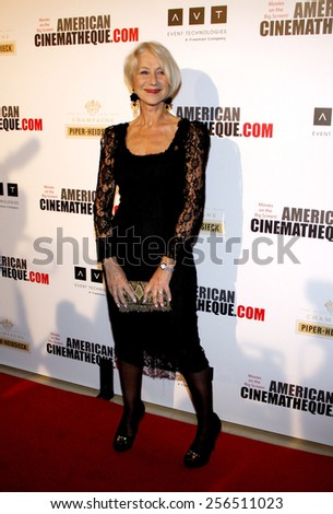 Helen Mirren at the American Cinematheque 27th Annual Award Presentation To Jerry Bruckheimer held at the Beverly Hilton Hotel in Los Angeles, United States, 121213.  - stock photo