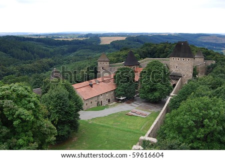 Helfstyn, gothic castle in Czech Republic - stock photo