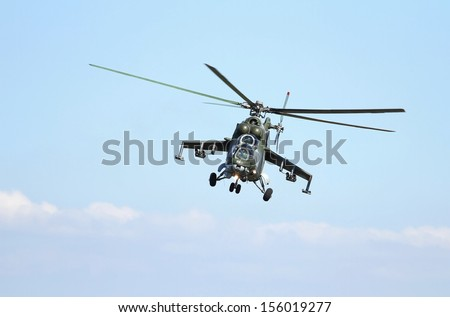 Helicopter attack - stock photo