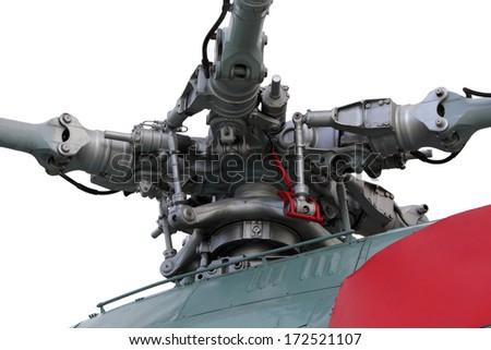 Helicopter engine transmission close up photo - stock photo