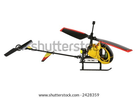 Helicopter model isolated + vector path - stock photo