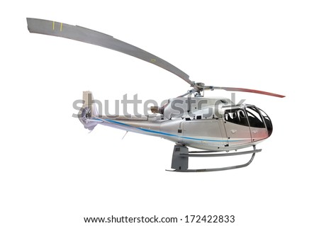 helicopter under the white background - stock photo