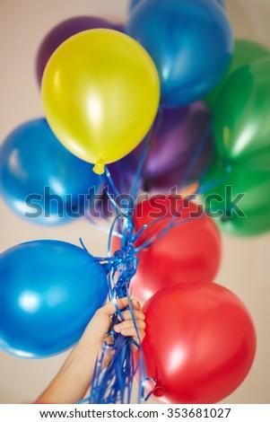 helium balloons - stock photo