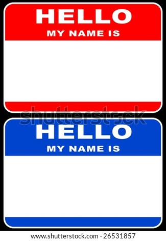 Hello my name is card - stock photo