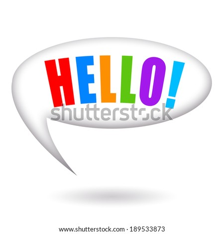 Hello, speech bubble - stock photo