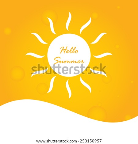 hello summer abstract background - stock photo