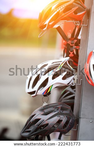 helmet for cycling  - stock photo