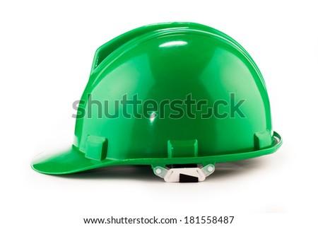 helmet green  - stock photo
