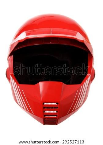 Helmet on White Background - stock photo