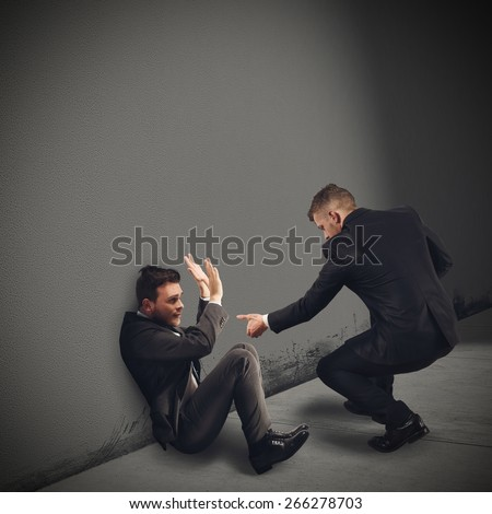 Help a colleague in trouble and scared - stock photo