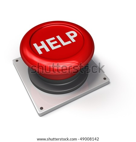 Help Button (Red) - stock photo