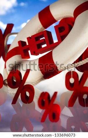 Help, crisis concept - stock photo