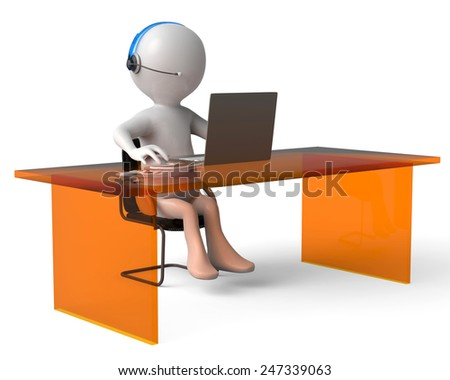 help desk - stock photo